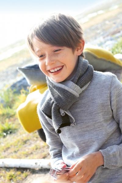 Disana Melange-Schal für Kinder aus 100% Merino-Schurwolle (kbT)
