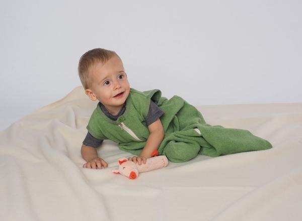 Reiff Plüschschlafsack ohne Arm aus 100% Baumwolle kbA.