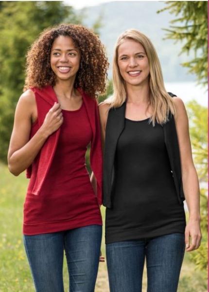 Engel-Natur Damen-Longshirt aus 70% Schurwolle kbT./ 30%Seide