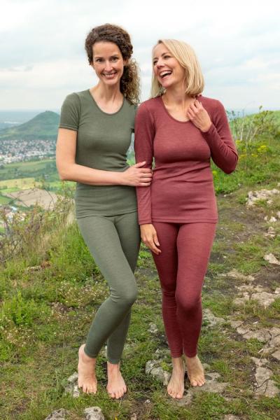 Engel-Natur Damen-Leggings aus 70% Schurwolle kbT./ 30%Seide
