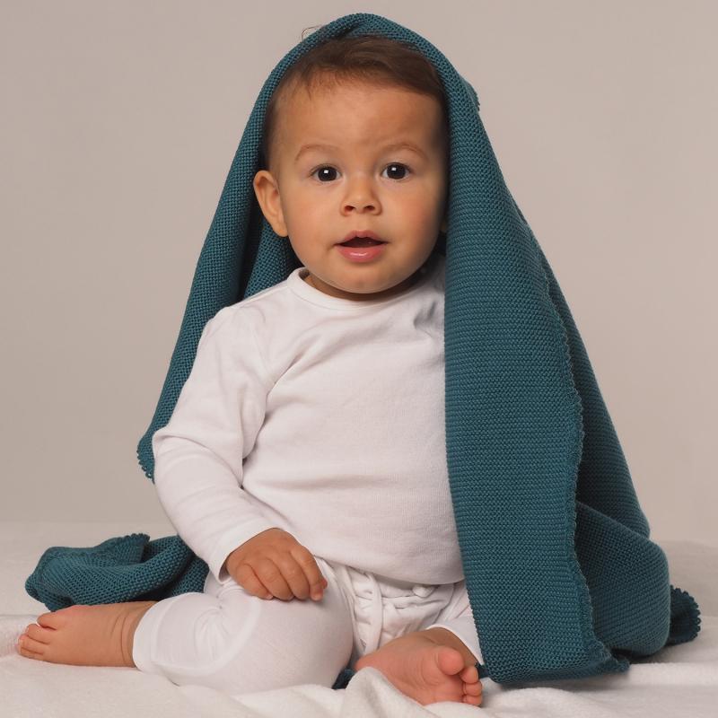 Reiff Babydecke, Wickeltuch aus 100% Merino-Schurwolle (kbT) für Babys und Kinder