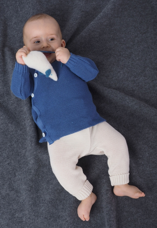 Reiff Babyjacke Schlüttli, uni, aus 100% Schurwolle (kbT)