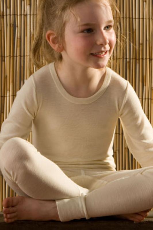 Hocosa Kinder Legging,  aus 70% Schurwolle (kbT.)/ 30% Seide