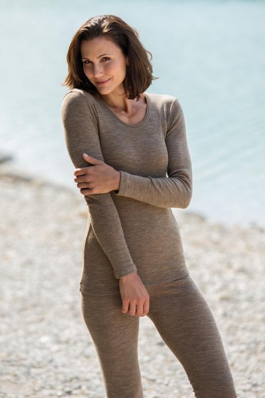 Engel-Natur Damen-Langarmshirt aus 70% Schurwolle kbT./ 30%Seide