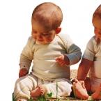 Engel-Natur Baby-Body, lang-Arm aus 70% Schurwolle (kbT) / 30% Seide