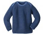 Disana Melange-Pullover aus 100% Merino-Schurwolle (kbT)
