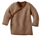 Disana Melange-Jacke für Babys mit Steinnussknöpfen aus 100% Merino-Schurwolle (kbT)