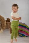 Cosilana Baby-Hose lang mit Nabelbund aus 70% Schurwolle (kbT) / 30% Seide