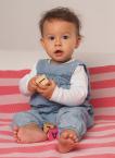 Reiff-Strick Babydecke, Wickeltuch geringelt aus 100% Merino-Schurwolle (kbT) für Babys und Kleinkinder