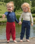 Engel-Natur Baby-Hose lang mit Nabelbund, Frottee aus 100% Schurwolle (kbT)