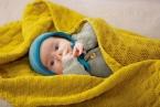 Disana Wollbabydecke aus 100% Merino-Schurwolle (kbT) für Kinder