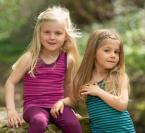Engel-Natur Kinder-Achselhemd, geringelt aus 70% Schurwolle (kbT) /30% Seide