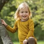 Engel-Natur Kinder-Langarmshirt, geringelt aus 70% Schurwolle (kbT.)/ 30% Seide