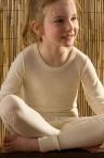 Hocosa Kinder-Langarmshirt,  aus 70% Schurwolle (kbT.)/ 30% Seide