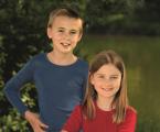 Engel-Natur Langarmshirt für Kinder uni aus 70% Schurwolle (kbT.)/ 30% Seide