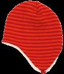 Reiff Strick Ohrenmütze geringelt mit Baumwollplüsch gefüttert aus 100% Schurwolle (kbT)