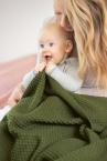 Disana Waben-Strickdecke aus 100% Merino-Schurwolle (kbT) für Kinder
