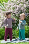 Engel-Natur Baby-Schlupfhemd, lang-Arm, geringelt aus 70% Schurwolle (kbT) / 30% Seide