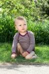 Engel-Natur Baby-Body langarm, geringelt aus 70% Schurwolle und 30% Seide